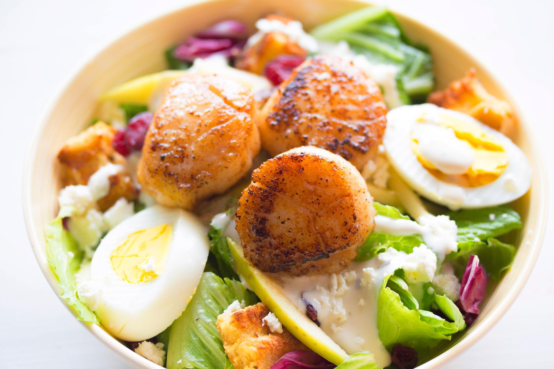 salade oeuf durs dans bol pour box minceur livraison